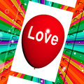 Love balloon shows fondness and affectionate feeling showing Royalty Free Stock Photo