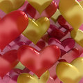 Love balloons heart shaped Stock Image