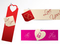Love banners for Valentine day Stock Photo