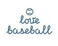 Love Baseball Decoration Royalty Free Stock Photo