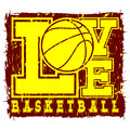 Love basketball Royalty Free Stock Photo