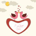 Love bird vector illustration of pair of against background Royalty Free Stock Photography