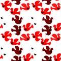 Love Birds Seamless Background
