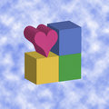 Love blocks - clouds Stock Photos