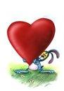 Love blue Bunny brings heart