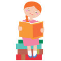 In Love With Books Illustration