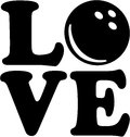 Love with bowling ball Royalty Free Stock Photo