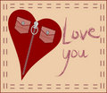 Love card with fashion heart Royalty Free Stock Photos