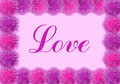 Love card with pink flowers Royalty Free Stock Photos