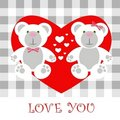 Love card Teddy Royalty Free Stock Image