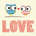 Love card two birds in Royalty Free Stock Photography