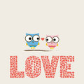 Love card two birds in Royalty Free Stock Photo