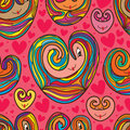 Love cartoon pattern drawing seamless pattern Royalty Free Stock Photo
