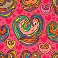 Love cartoon pattern drawing seamless pattern Royalty Free Stock Photo