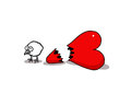 Love chick vectorel conceptual humorous cartoon about valentines day and Royalty Free Stock Photos
