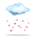 Love cloud a filled to the brim with to rain down upon you Royalty Free Stock Photography
