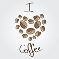 Love coffee. Coffee beans heart Royalty Free Stock Photo