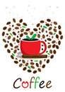 Love Coffee_eps Stock Images