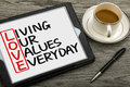 Love concept: living our values everyday Royalty Free Stock Photo