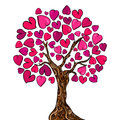 Love concept tree card Royalty Free Stock Image