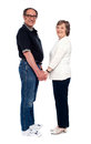 Love couple holding hands. Full length shot Stock Photo