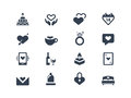 Love and couple icons set Royalty Free Stock Photos