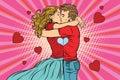 Love Couple Kiss, Boy And Girl...