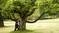 Love couple in park Royalty Free Stock Photo