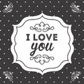 Love design over black background vector illustration Royalty Free Stock Photography