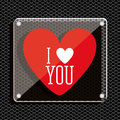 Love design over black background vector illustration Royalty Free Stock Image