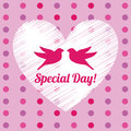 Love design over dotted background vector illustration Royalty Free Stock Photos