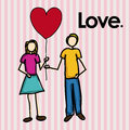 Love design over lineal background vector illustration Stock Photography