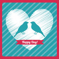 Love design over lineal background vector illustration Stock Photo