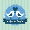Love design over lineal background vector illustration Royalty Free Stock Photos