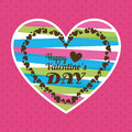 Love design over pink background vector illustration Royalty Free Stock Image