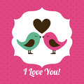 Love design over pink background vector illustration Stock Photos