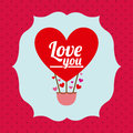 Love design over red background vector illustration Royalty Free Stock Image