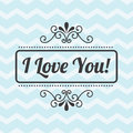 Love design over waves background vector illustration Royalty Free Stock Photo