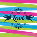 Love design over white background vector illustration Stock Photos