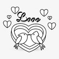 Love design. romantic icon. Colorful illustration, vector Royalty Free Stock Photo