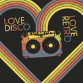 Love Disco, Love Retro Stock Photography
