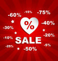 Love discount sale promotion background Stock Photos