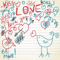 Love doodles Royalty Free Stock Images