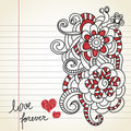 Love doodles Stock Image