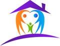 Love family home Royalty Free Stock Photo