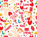 Love Feb Seamless Pattern_eps Royalty Free Stock Photos