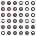 Love feelings heart modern icon set