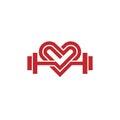 Love fit logo vector