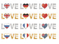 Love flags set 2 Royalty Free Stock Photo