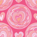 Love flower circle seamless pattern Royalty Free Stock Photo